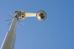 Security camera on a pole Stock Photos