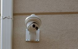 Security camera Private property protection. Private property protection security camera on ceiling stock image