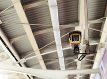 Security camera in public space indoor Royalty Free Stock Images