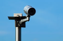 Security camera. On the public square royalty free stock image