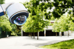 Security camera and safety in a school Stock Photos