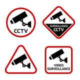 Security camera, set stickers Stock Photography