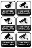 Security camera sign set Royalty Free Stock Photos
