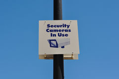 Security Camera Sign Stock Photography
