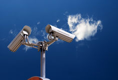 Security camera on the sky Stock Photography