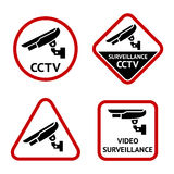 Security camera, stickers Royalty Free Stock Photography