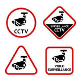 Security camera, sticky labels Royalty Free Stock Images
