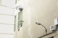 Security camera on the street Royalty Free Stock Photo