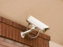 Security Camera on Stucco Royalty Free Stock Photo
