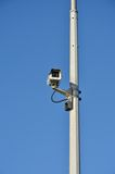 Security camera on tall post Stock Photography