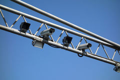 Security camera. Under blue sky Royalty Free Stock Photos