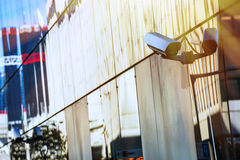 Security camera and urban video Royalty Free Stock Images