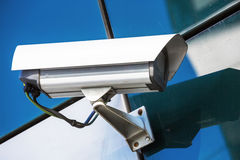 Security camera and urban video Royalty Free Stock Image