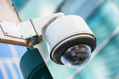 Security camera and urban video. Closeup on security camera on urban video Stock Images