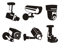 Security camera + vector file Royalty Free Stock Images
