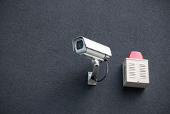 Security Camera On Wall Stock Images