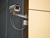 Security camera on a wall Royalty Free Stock Images