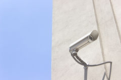 Security camera on wall Royalty Free Stock Photography
