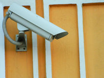 Security camera. Security camera on wall monitoring Royalty Free Stock Image