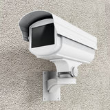 Security camera. Wall mounted CCTV security camera Royalty Free Stock Photos