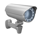 Security camera on white background Royalty Free Stock Photos