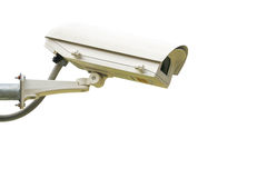 Security camera on white background Royalty Free Stock Image