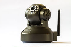 Security camera on white background. IP Camera. Stock Images