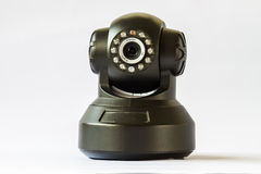 Security camera on white background. IP Camera. Royalty Free Stock Image