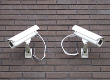 Security cameras. Security cams Royalty Free Stock Images