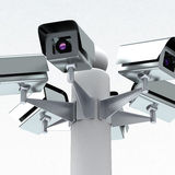 Security cameras, 3d Stock Image