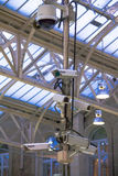 Security cameras at Charing Cross railway station Stock Images