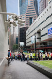 Security cameras in the city center in Singapore Stock Photo