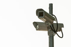 Security cameras isolated on a white background Royalty Free Stock Photo