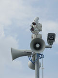 Security cameras and loudspeakers Royalty Free Stock Photography
