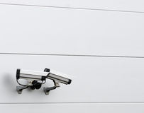 Surveillance Security cameras Stock Image