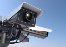 Security cameras on a pole Royalty Free Stock Photography