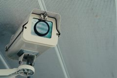 Security cameras. Security camera in the city stock photo