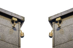 Security cameras on the side of an modern building Royalty Free Stock Photography