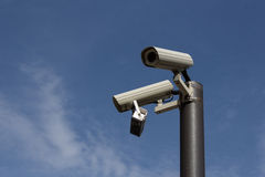 Security cameras - surveillance cam , cctv Royalty Free Stock Photography