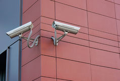 Security cameras Stock Image
