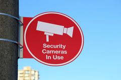 Security Cameras in Use Royalty Free Stock Images
