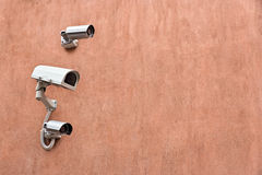 Security Cameras on wall Stock Image