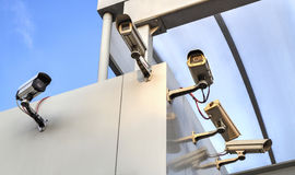 Security cameras on the wall Stock Image