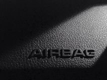Security in the car guarantees airbag Stock Photo