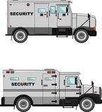 Security car on a white background in a flat style Stock Photos
