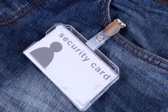 Security card Royalty Free Stock Photography