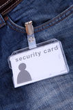 Security card Stock Photography