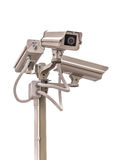 Security CCTV camera isolate on white background Royalty Free Stock Photos