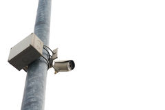 Security CCTV camera isolate on white background Stock Images
