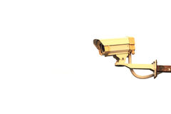 Security CCTV camera isolated on white Royalty Free Stock Photos